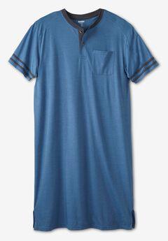 Short-Sleeve Henley Nightshirt,
