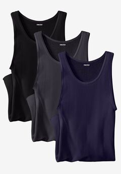Ribbed Cotton Tank Undershirt, 3-Pack,
