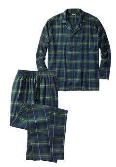 Plaid Flannel Pajama Set,