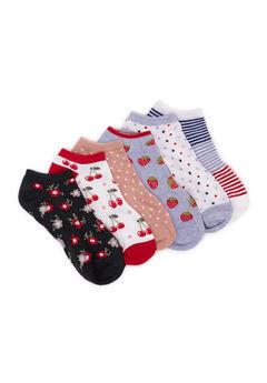 6 Pair Pack Ankle Socks,