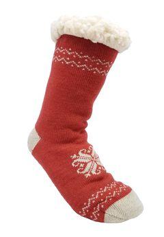 Heart Snowflake Slipper Socks,