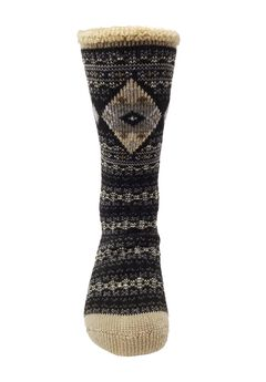 Diamond Fairisle Thermal Socks,