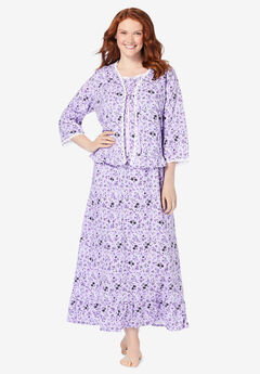 2-Piece Nightgown and Bed Jacket Set,