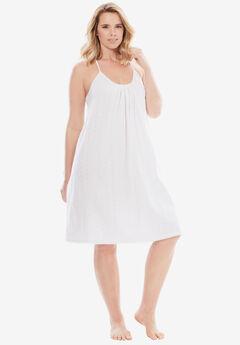 Breezy Eyelet Short Nightgown ,
