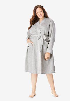 Heathered Knit Robe ,