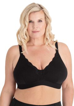 The Lucille Microfiber Lace Trim Bralette ,