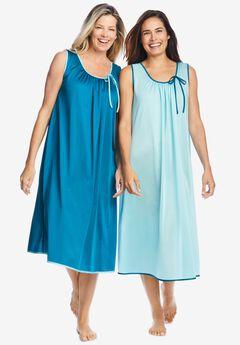 2-Pack Sleeveless Nightgown ,