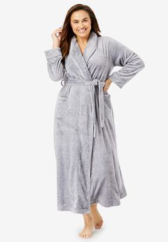 Microfleece Wrap Robe ,