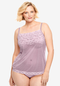 Sheer Lace Trim Camisole ,