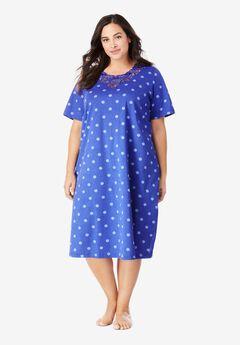 Lace-Trim Sleepshirt ,