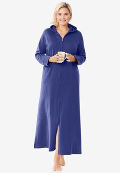Hooded Fleece Robe ,