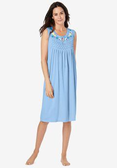 Sleeveless Smocked Sleep Gown,