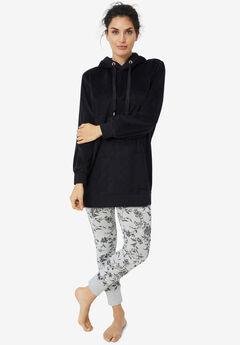 Hooded Fleece Lounge Tunic,