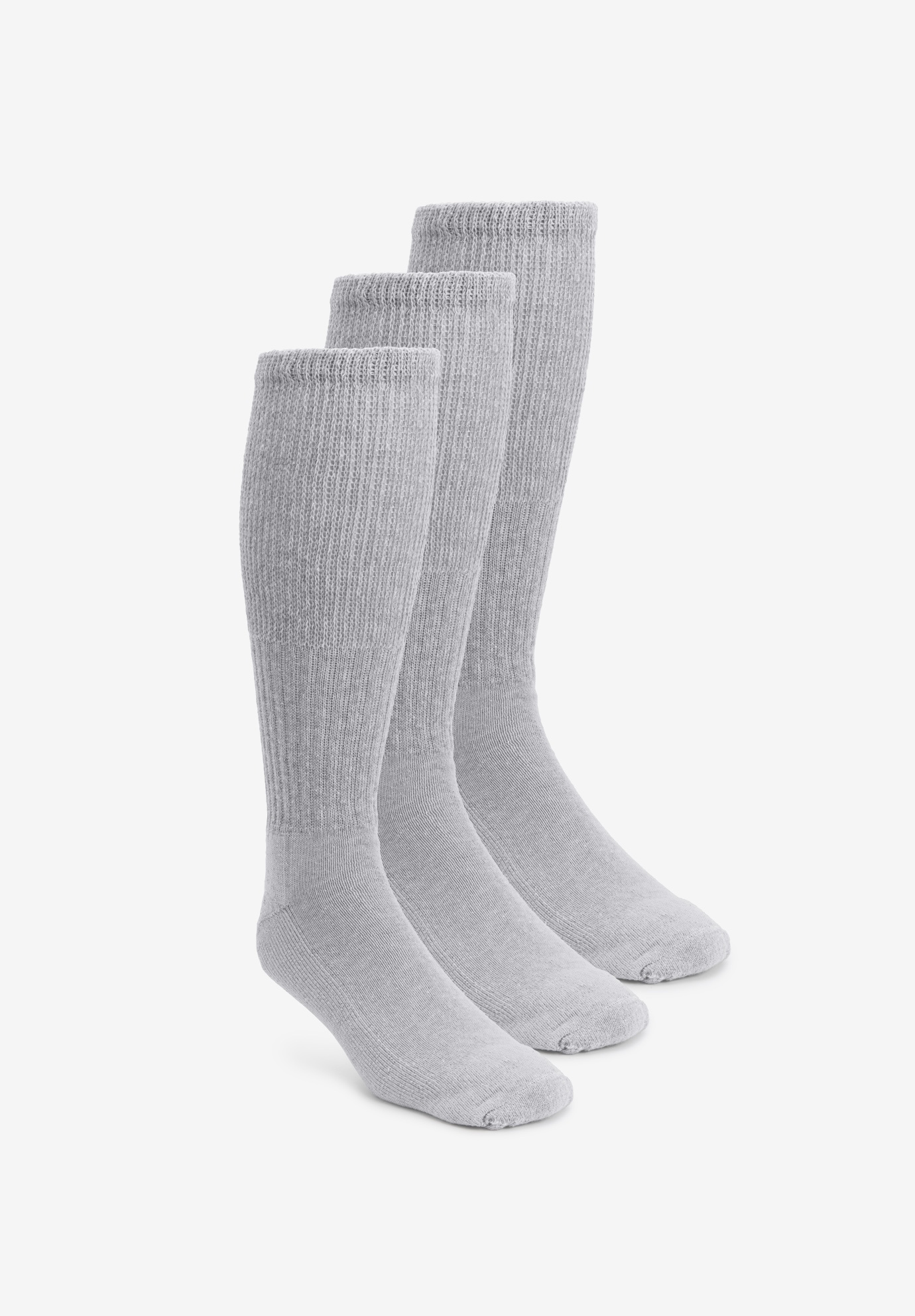 Diabetic Over-the-Calf Extra Wide Socks 3-Pack,