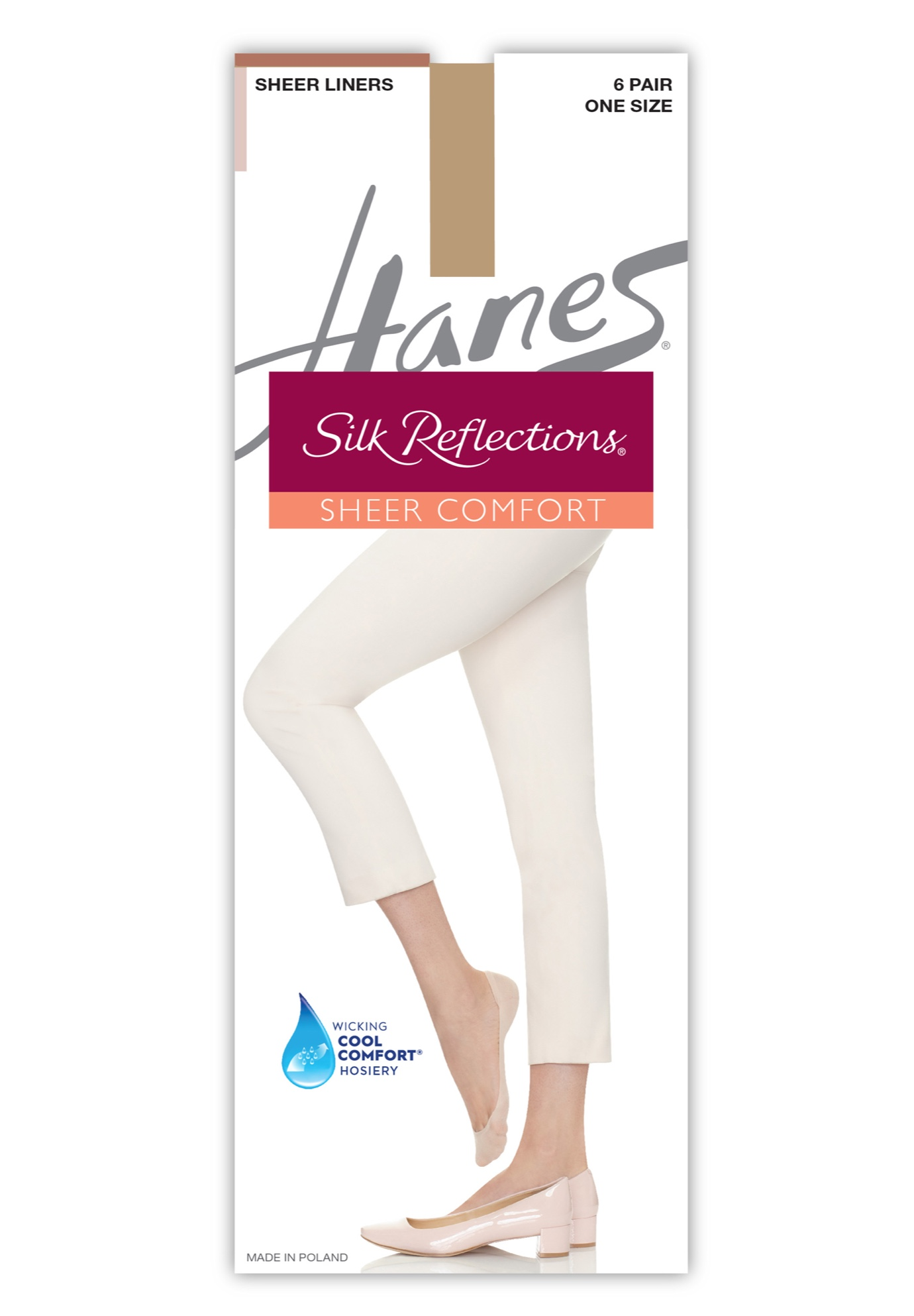 Silk Reflections Sheer Liners 6-Pack,